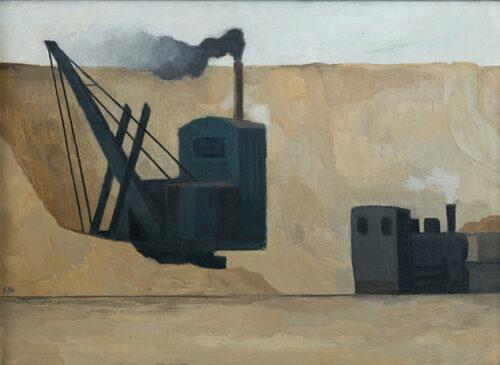 Günther Friedrich, Der blaue Bagger, 1956, Öl auf Leinwand © Nachlass
