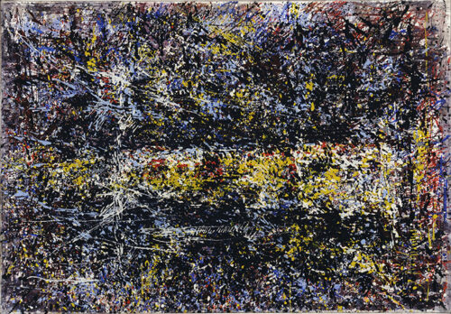 Gerda Lepke, Innenraum Stahlwerk Riesa, 2. Fassung, 1988, Öl auf Leinwand, Foto: Andreas Kämper © Brandenburgisches Landesmuseum für moderne Kunst (BLMK)